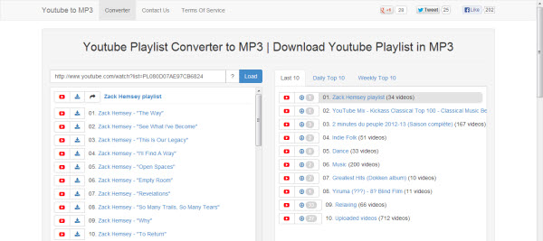 Free YouTube Playlist to MP3 Downloader for Mac